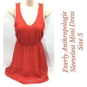 Everly Anthropologie Size S Sleeveless Mini Dress